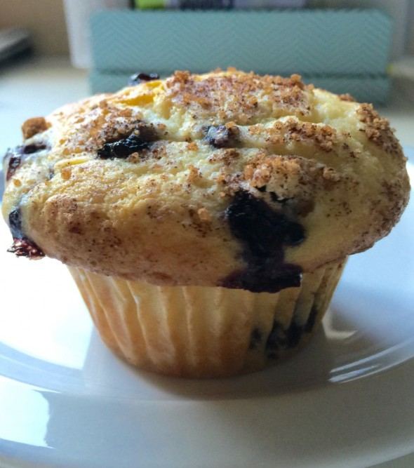 Blueberry Muffins with a Cinnamon Twist